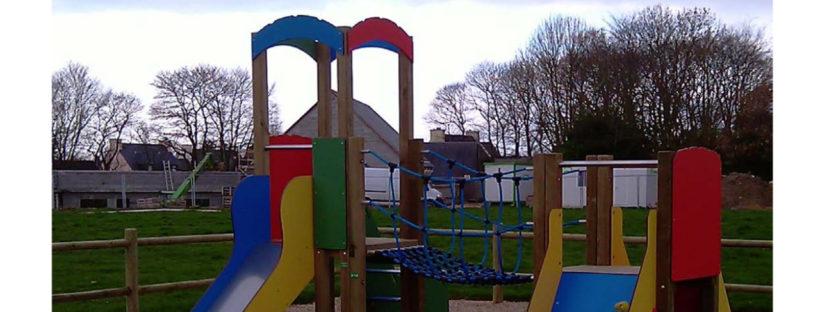 Nouvelle structure de jeux école Notre Dame de Lorette Pouldreuzic